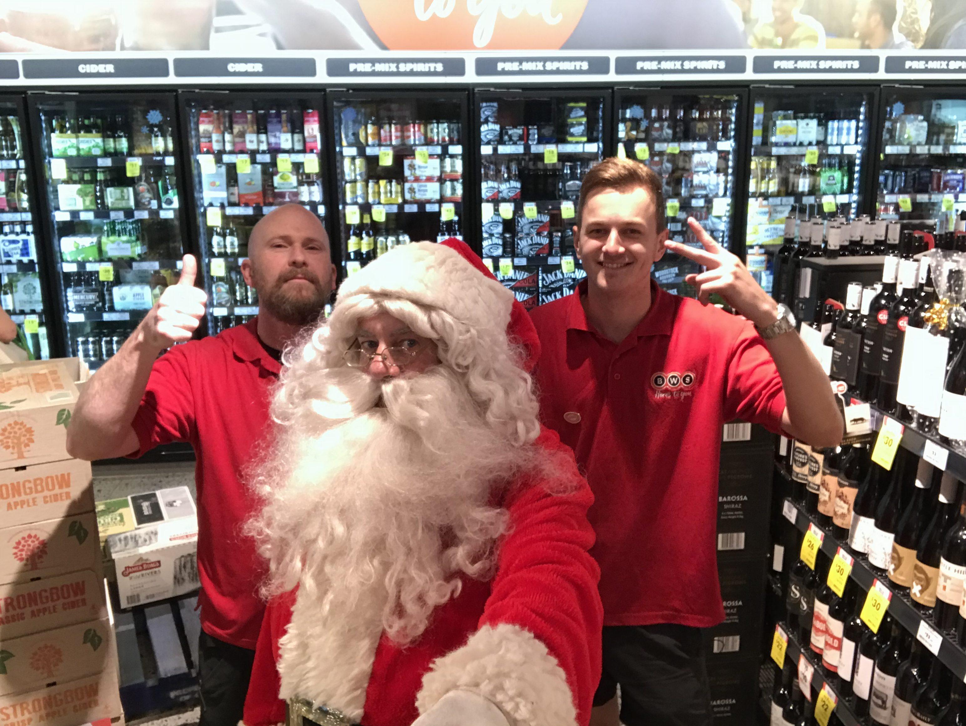 Santa Visits BWS