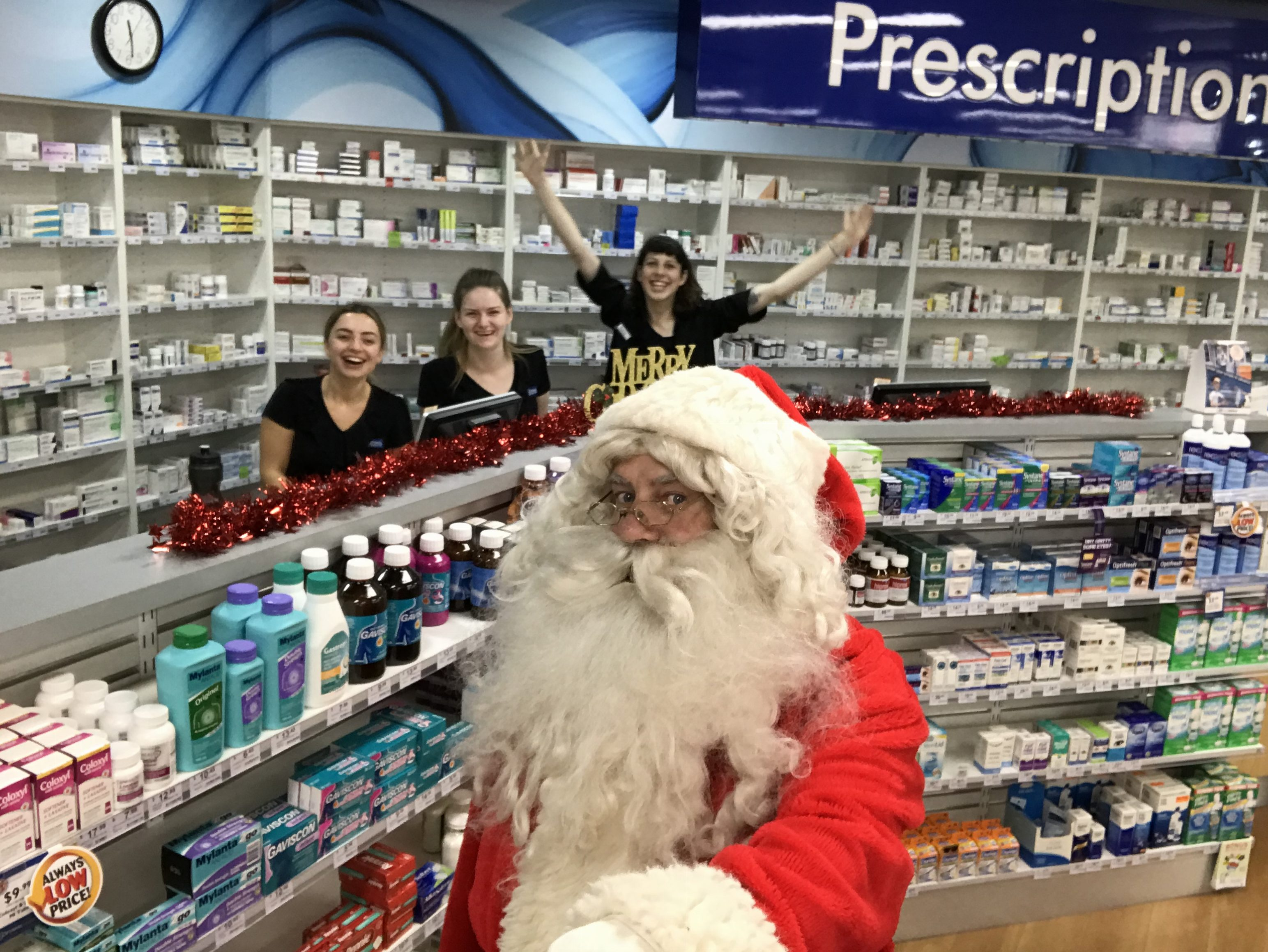 Pharmacists welcome Santa