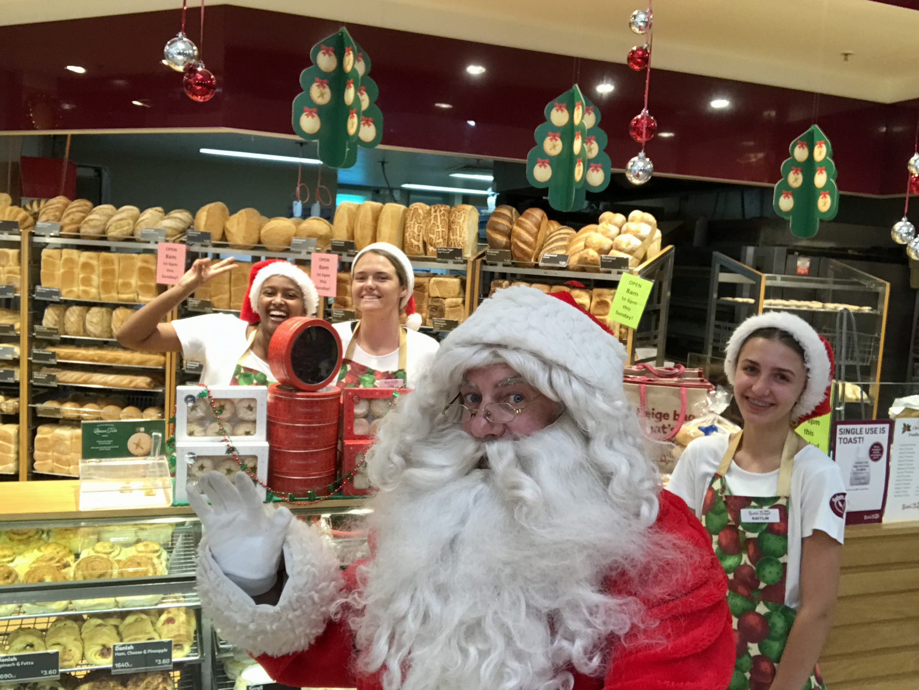 Santa at Bakers Delight