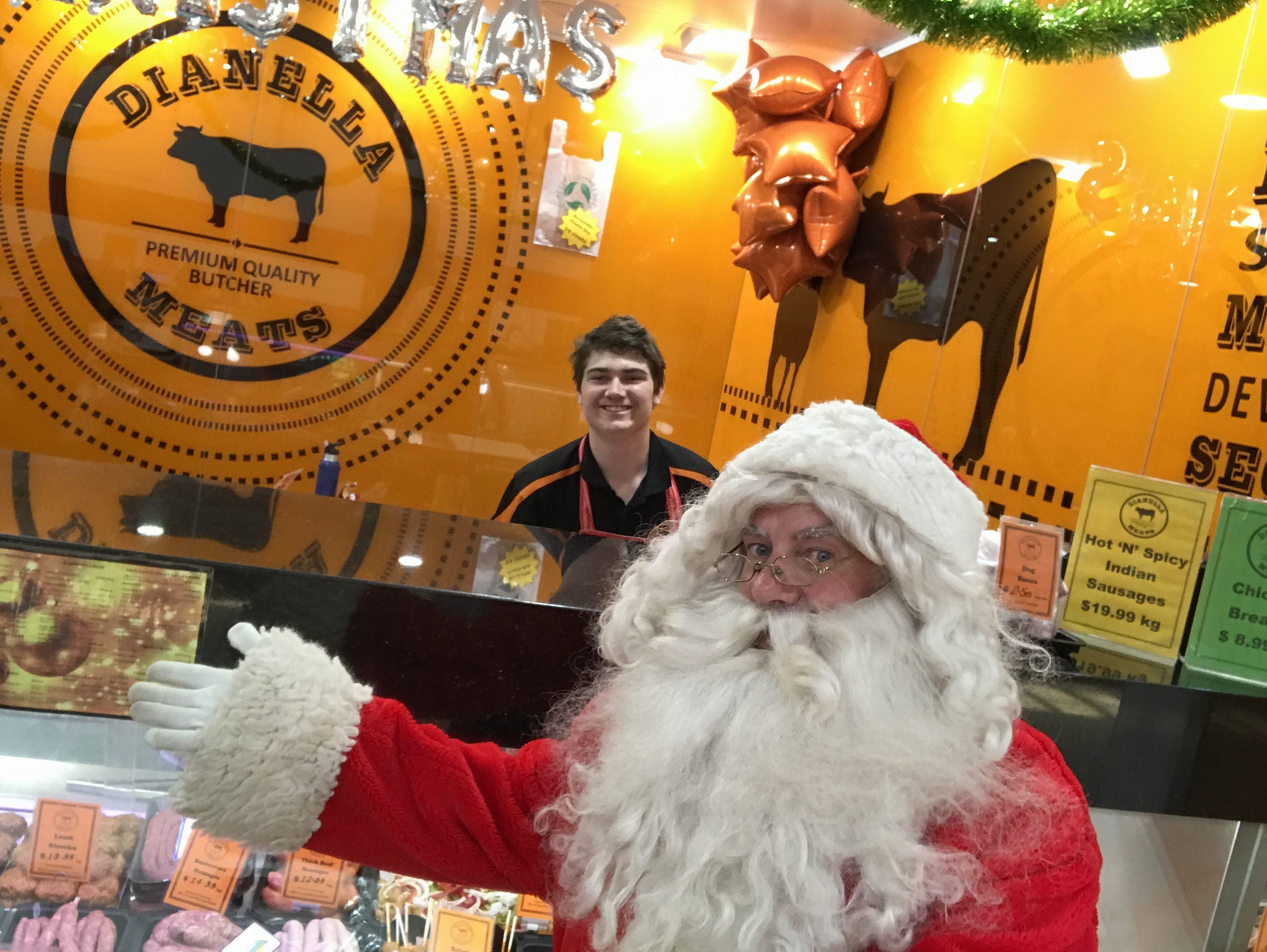 Santa visits Dianella Meats