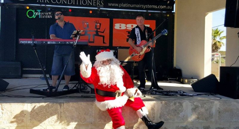 Pop Magic @ Ocean View Tavern -2015 – Santa with the Band