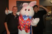 Easter Bunny with the Centro Dianella Cafe Staff