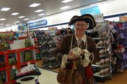 Pirate Pop and Coco entertain at a Shopping Centre Toy Sale.