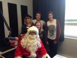 Santa Claus at radio station